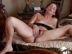 Pubic hair grows wildly between her legs in a lusty scene movies at kilosex.com