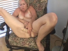 Cute old lady fucking a dildo erotically videos