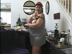 Fat slut licks the crotch of her dirty panties videos