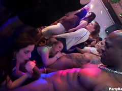 Asses groped on hot ladies in the night club videos