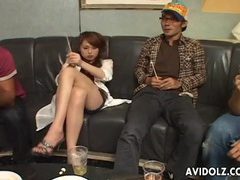 Hot japanese girl strips for a group of guys videos