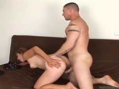 Pulling hard on her tits and fucking her hairy pussy movies at adipics.com