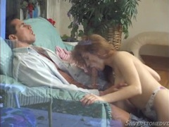 Cute slut blows peter north and bends over for him videos
