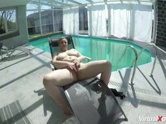 Big breast milf masturbating at the pool movies at sgirls.net