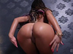 August ames puts on a show in her sparkly bikini movies at sgirls.net