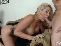 Big lips bimbo slut sucks his cock on top in a 69 videos