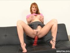 Busty redhead milf tarra white fucking big brutal dildos movies at relaxxx.net
