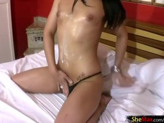 Whipped cream makes her tranny body all sticky videos