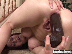 Hottie takes her time ass fucking a big dildo movies