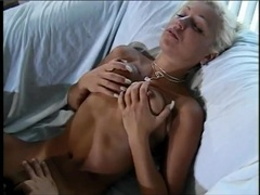 Big clit babe does a dildo dp and sucks a cock tubes