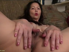 Naked asian milf parts her legs for pussy views clip