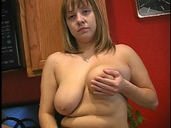 Housewife on the kitchen counter rubbing her pussy movies at kilopics.net