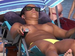 Nice implants on a tanned babe at the beach movies at find-best-hardcore.com