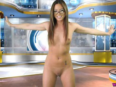 News girl strips so you can stroke to her videos