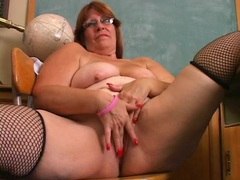 Fat mature redhead plays with her lovely cunt videos