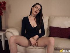 Little black dress lets her tease her tits and panties movies at adipics.com