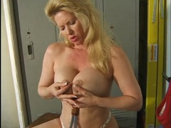 Tennis racket handle fucks her beautiful milf pussy movies at find-best-babes.com