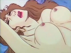 Wonderfully thick hentai fucked as guys watch movies at adspics.com