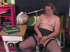 Teacher pinching her nipples and playing with her cunt movies at kilosex.com