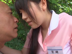 Subtitled bizarre japanese half naked caregiver outdoors tubes at japanese.sgirls.net