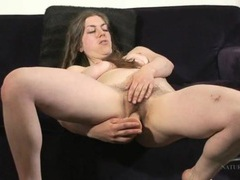 Long haired amateur bangs a dildo into her hairy cunt videos