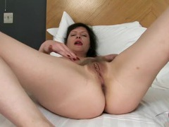 Hot old lady in a hotel bed masturbates sensually movies at freekiloclips.com