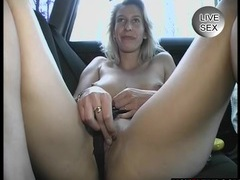 Vintage hot blonde plays in the backseat movies at kilomatures.com