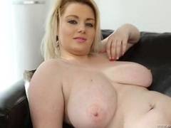 Bbw gives sensual joi as she rests naked movies