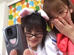 Subtitled japanese cosplay virtual masturbation support videos