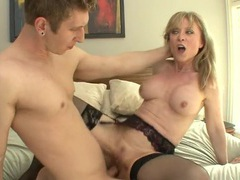 Nina hartley takes young dick deep into her mature pussy movies