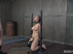 Couple takes turns dominating a chained up slave girl movies at kilotop.com