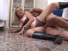 Chubby mom in sexy boots fucked by a young guy videos