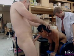 Lingerie babe double penetrated in the warehouse movies at adipics.com