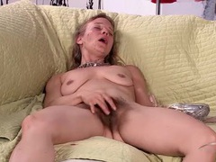 Thick and curly pubic hair grows wild around her cunt movies at find-best-panties.com
