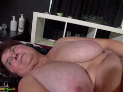 Oldnanny big granny with natural big tits has sex movies at find-best-lesbians.com
