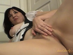 Milf teases in her sexy french maid costume movies at sgirls.net