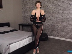 Naughty genie does a lovely striptease movies at freekiloclips.com