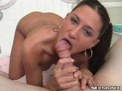 Young slut is damn good at eating dick tubes