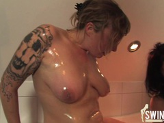 Milf swinger fun in the bathroom videos