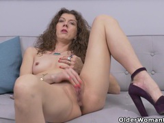 Canadian milf janice strips off and fingers her ripe cunt movies at adipics.com