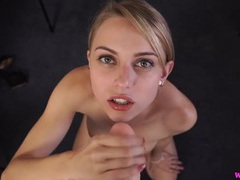 Cute chloe toy gives a sexy virtual handjob tubes