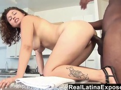 Cutie with curly hair bent over and fucked from behind movies at freekilomovies.com