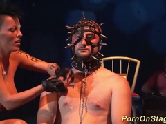 Extreme needle fetish on public stage movies at find-best-videos.com