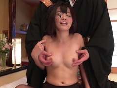 Stripping and eagerly fondling a japanese beauty tubes at japanese.sgirls.net