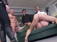 Office gangbang part 2 tubes