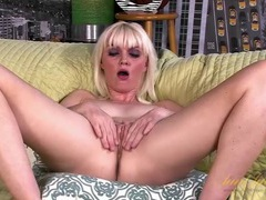 Blonde marie mccray masturbates on the couch tubes