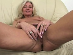 Pubes are growing wild on this mature blonde movies