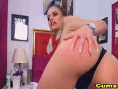 Pretty gal plugs her ass and pussy on cam movies at kilosex.com