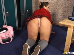 Super thick ass makes for great upskirt flashing fun movies at adipics.com