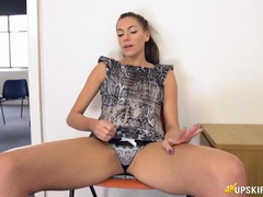 Beauty in a tight minidress is an upskirt expert movies at kilosex.com